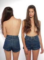 2014 Lady Women girls vintage high waist denim shorts jeans 100% cotton plus size female 7 size jeans Bottoms new