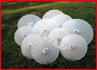 5pcs/lot white silk parasol Chinese umbrella for bride as wedding decoration & gift