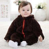 Baby Coverall spot wholesale winter models thick three- plus velvet monkey modeling Romper baby coveralls