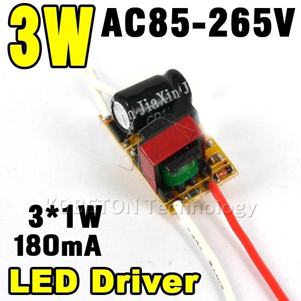 New (1-3)x1W 3x1W Led Driver1W 2W 3W Lamp Driver Power Supply Lighting Transformer AC85-265V(110V/220V) for LED Strip Floodlight(China (Mainland))