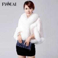 FYOUAI 2014 Fashion Winter Jacket Women Casual Loose Warmth Fox Fur coat For Women Big Collar Comfortable Material Coat