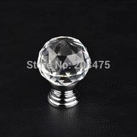 Free Shipping 5pcs/lot Crystal Cabinet Knob Drawer Pull Handle glass knob Wardrobe handle furniture