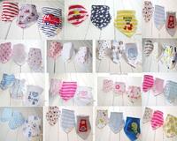 3pcs/lot Baby Bibs Bandana Lot 100% Cotton High Quality Babadores Para Bebe Infant Saliva Towel For Boys And Girls KF025