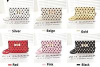 2014 Summer Leather Women's Messenger Bag Women Dot Handbag Satchel Shoulder Cross Body Bag Purse Mobil Pouch 6 Color