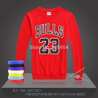 2014 New JORDAN 23# Basketball Supper Star Chicago Tops Clothing Cotton Printed Men Training Long-sleeved Tops