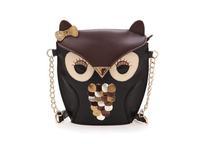 Hot Sale 2015 New Fashionable Women High Quality PU Leather Handbag Cartoon Bag Owl  Shoulder Bags Women Messenger Bag AD0345