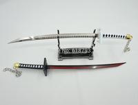 2014 new version Bleach Bankai Zangetsu key chain.Black and white sword key chain Best quality