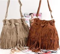 2014 New Fashion Brand Women's Messenger Bags Suede Fringe Tassel Shoulder Bag for Women Handbags bolsas femininas XB110