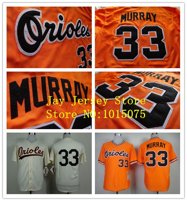 Eddie Murray Jersey Cream Orange Baltimore Orioles Vintage Jerseys, Throwback Baseball Uniforms(China (Mainland))