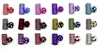 Multi-colour Casual Style Lot of 10 Pairs Cufflinks Cuff Links Silk Knot CSPH10