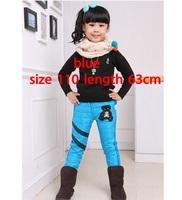 children girl winter  leggings With velvet cotton  warm pu Sequins star patchwork