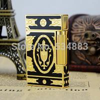 100% New Vintage Memorial dupont lighter gas lighter cigar cigarette lighter carving Bright Sound