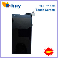 100% Original THL T100 T100S Touch Screen + LCD Display for THL T100 T100S black color Phone Free shiping