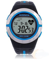2014 Xonix Men Women Heart Rate Calorie Watches Sports Watch HRM Heath Care BMI Unisex Running Diving Swimming Waterproof 100m