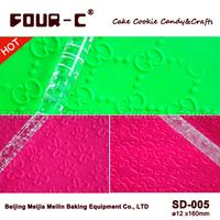 Newest 3PCS Acrylic Textured Rolling Pin - Embossing Fondant Rolling Pins / Fondant cake decorating tools
