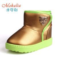 2014 girls baby  winter snow boots waterproof non-slip plus velvet Foot length 14 ~ 18cm