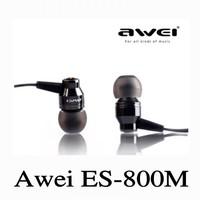 Origianl Awei ES800M Earphone 3.5mm In-ear Earphones Super Clear Bass Metal Earphone Noise Isolating Earbud for MP3/4 Cellphone
