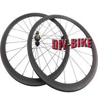 700c Carbon fiber 38mm clincher wheels powerway r13 ceramic bearings hub road bicycle wheelset Aero mac 424 Flat spokes