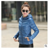 [PH95] 11 Color Plus Size S-XXXL New 2014 High Quality Women Down Jackets Candy Color Ultralight Down Parka Women Hooded Jacket