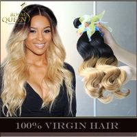 Ombre Malaysian Virgin Hair Body Wave Human Hair Extensions Two Tone Black To Blonde Grade 6A 3/4Pcs Lot Cheap Landot Hair Weave
