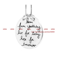 """""""Learn From Yesterday,Live For Today, Hope For Tomorrow """"Box Chain Silver Pendant Necklace Women men Gift ,18inch"""
