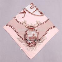 "21""x21"" simple city design brand lady  fashion silk satin scarves wholesale  free shipping"
