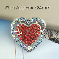 100pcs/lot New Arrive Red Rhinestone HEART Flat Backs for VALENTINE'S Day 0808-13