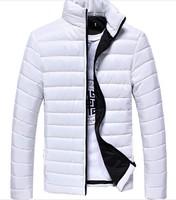 2014 New Men' Winter Jackets Men Stand Jacket  Brand Top Quality Plus Size 3XL Men's Winter Coat , Men Down Jackets Droship