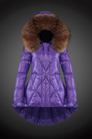Purple Green Red Black Winter Jacket Women Down Jacket Skirt Fashion Ladies Winter Down Parka Brand Fur Collar Lady Down Coat