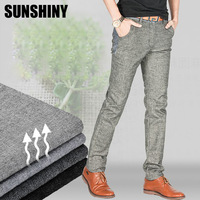 Explosion sell! 2014 Autumn and winter South Korean men's fashion Slim pants, High Quality linen straight trend pants AMC10