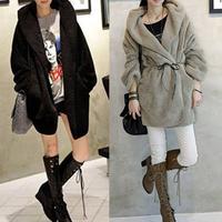 2014 New Fashion Warm Outerwear Cardigan Long Sleeve Jacket Women Lady Hoodie Winter Coat GWF-3680