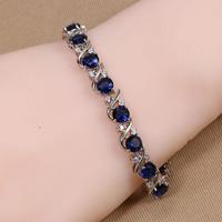 B-0020,Bracelets Brazalete Pulseira 925 Sterling silver plated jewelry with zircom crystal new-balance brand in aliexpress