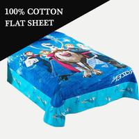 Frozen Bed sheet cotton bed linen cartoon sheets for kids child bed sheet/blue bedding /flat sheet twin full size B15-1