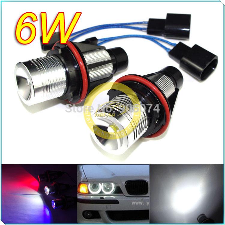 2X E39 6W White/Blue/Red Angel Eyes LED MARKER FOR BMW E39 E53 E60 E61 E63 E64 E65 E66 E87 525i 530i 540 M5 525i 525xi(Hong Kong)