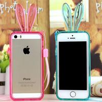 Cute Rabbit Case For Iphone 6 TPU Fundas Rabbit Ear Case Clear Bunny Cover For Iphone 6 For Iphone 6 Plus