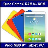 Original Vido M80 MT8127 Quad Core 1.3GHz Android 4.4 Tablet PC 1GB RAM 8GB ROM 8 inch IPS 1280x800px Dual Camera GPS OTG WIFI
