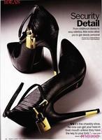 Women High Heel Shoes 2014 Fashion Brand Genuine Leather Women Pumps Black Decorative Metal Lock Women Shoes,Hot