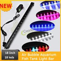 NEW 46cm 5.2W  18 PCS Air Bubble Aquarium Fish Tank Light Bar Strip  LEDs Bubble Aquarium Light