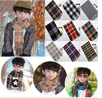 2014 Newest warm Cotton scarves & wraps for Children & Adults Fashion winter scarf for boy & girl brand plaid scarf  20colors