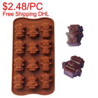Free Shipping DHL 50pcs moule silicone moldes de silicone para pasta americana silicone molds cakes robot mould fondant mold