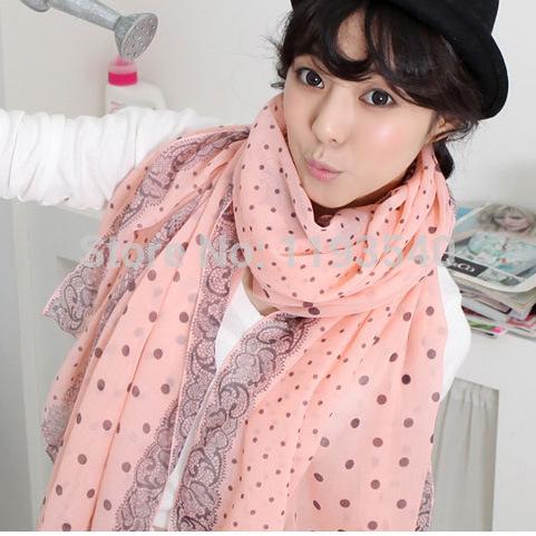 2014 New Hot Fashion Womens Scarfs Silk Chiffon Scarf Women's Ponchos And Capes cotton Scarf Paris yarn scarf pattern Wholesale(China (Mainland))