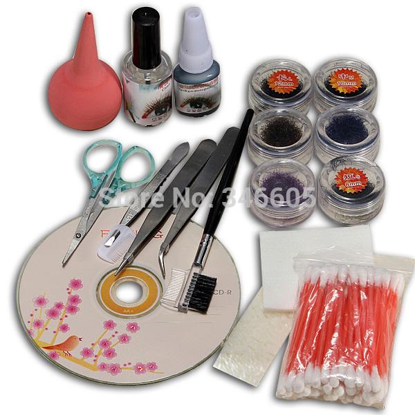 1 Set Eye Lashes Makeup Kit Tools Individual False Eyelash Extension Worldwide free shipping(China (Mainland))