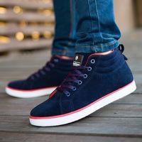 2014 New Arrival Male Sneaker, Autumn  Fashion high-top Casual Shoe, Solid Warm&Comfort  Man Shoe,Drop Shipping, XMB149