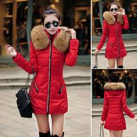 2014 Down  Parkas parka for women winter warm coat outwear fur jacket