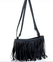 2015 Promotion Hot Sale Women Messenger Bags Tassel Decorated Women Cross Body Bag Classic Candy Color Lady Shoulder Bag RT0349
