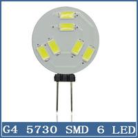10x Mini G4 5730 6 LED Light 12V 5630 Chandelier Crystal Home Reading RV Marine Boat Corn Bulb Cabinet Car Interior Round Lamp