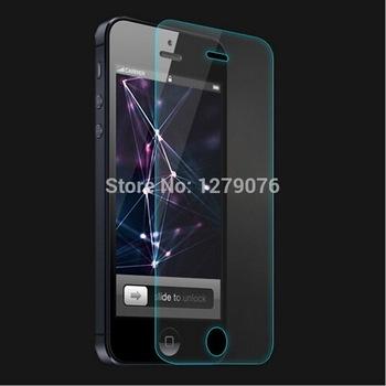 Закаленное стекло протектор экрана для iphone 5 5S 5c премиум HD закаленное защитная пленка ультра тонкий 0.3 мм 9 9н 2.5D
