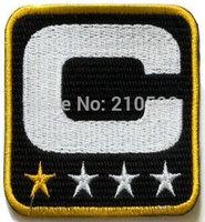 Black American football teams captains Patch Embroider use Oakland Carolina Pitt Sain ts Cincin jerseys Badges Accessories