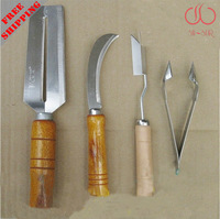 1 knives pack set include 4 knives. Pineapple slicers v shape sugar cane knife made by stainless steel  KF00C
