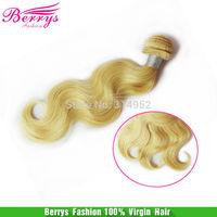 "Brazilian Human Hair Body Wave Blonde Hair 613 Color 3pcs/lot 10""-28"" Berrys Hair Products Cheap Price Human Hair Weave"